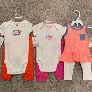 Bundle of 3 Carter's Baby Girl outfits